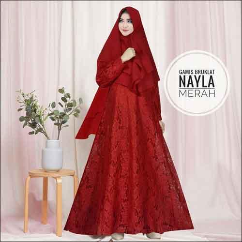 Model-Baju-Gamis-Untuk-Pesta-Pernikahan-Nayla-Syari-Warna-Merah-Bahan-Brokat.jpg