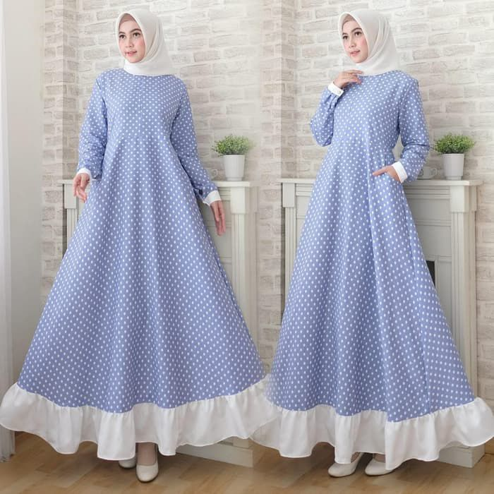 Trend-Baju-Gamis-Polkadot-Modern-Geisha-biru-muda.jpg