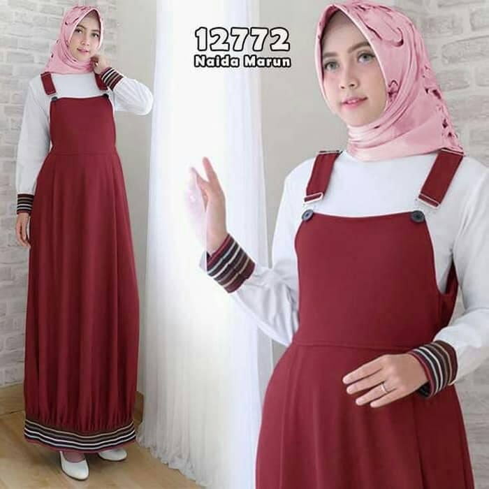 Baju-gamis-dress-modern-remaja-naida-maroon.jpg