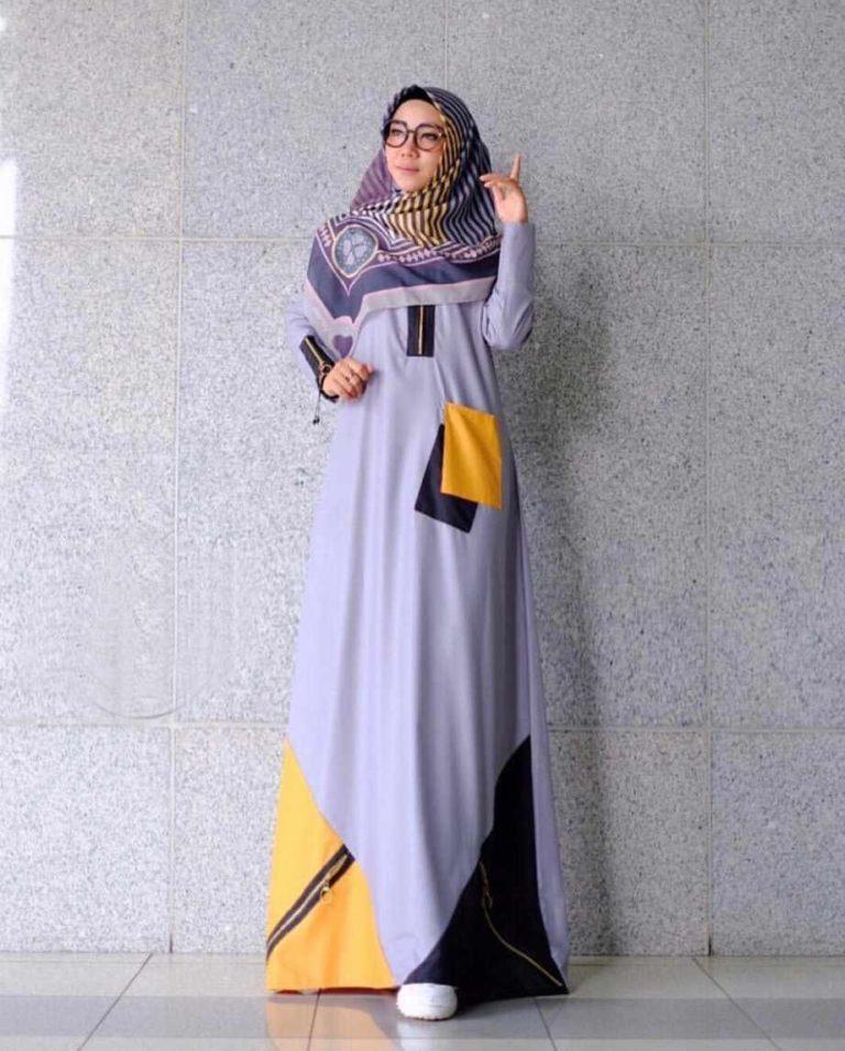 Model-baju-gamis-2019-remaja-modern-Yura-abu-abu.jpg