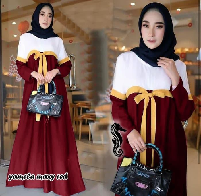Baju-Gamis-Warna-Kombinasi-Cantik-Model-Terbaru-Warna-Merah-Maroon.jpg