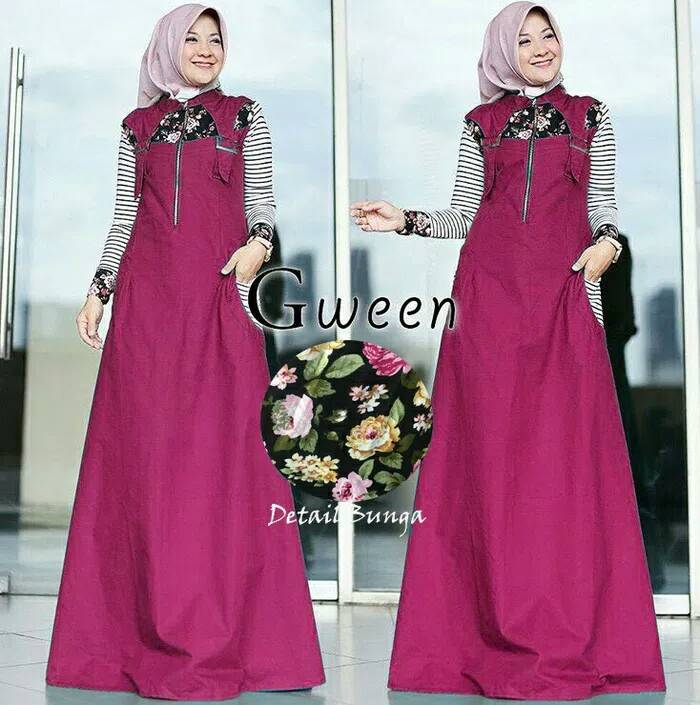 Model-baju-muslim-remaja-modern-2018-gween-magenta.jpg