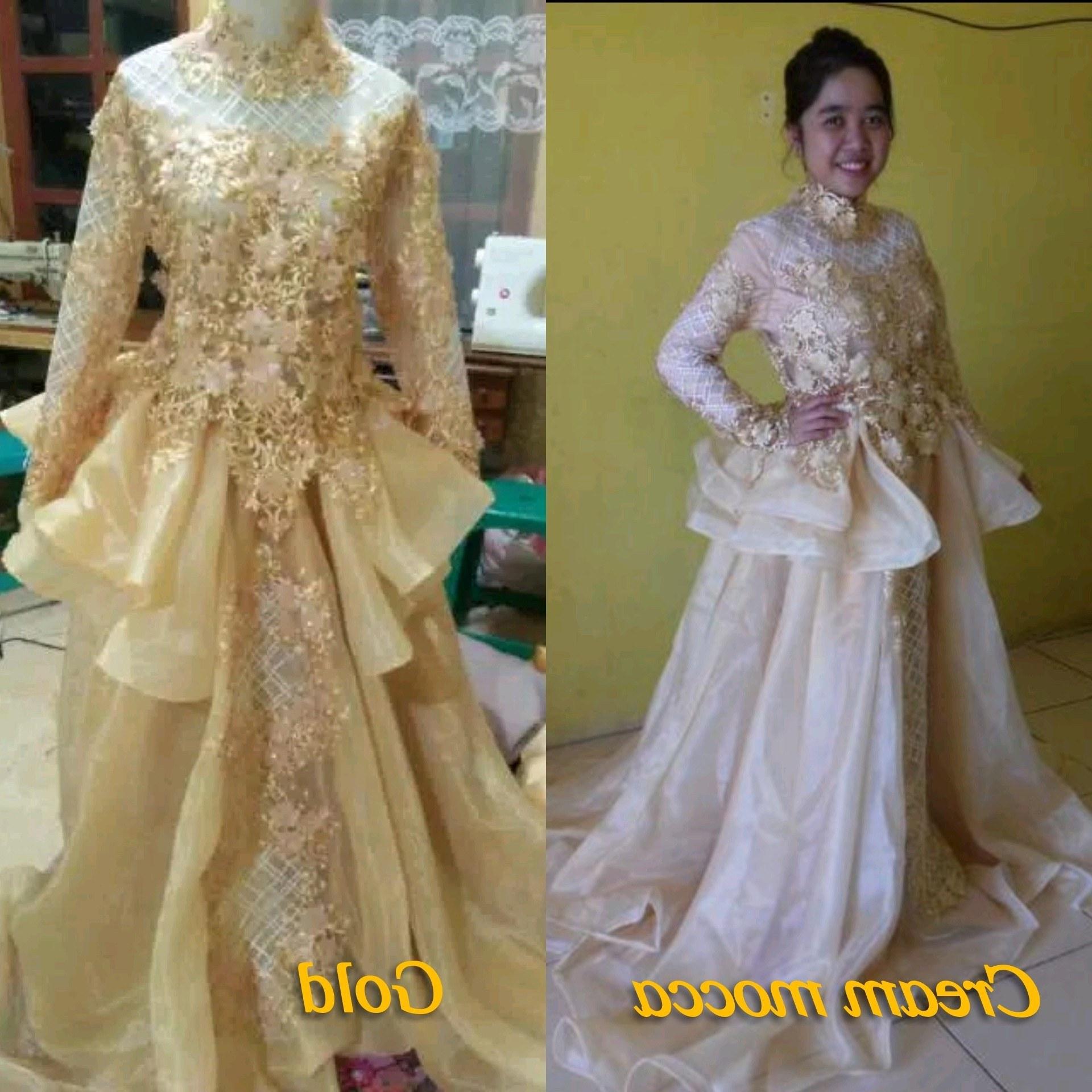 Bentuk Gaun Pengantin Muslim Gold Tldn Foto Pengantin Muslim Putih Terbaik Model Kebaya Akad Nikah