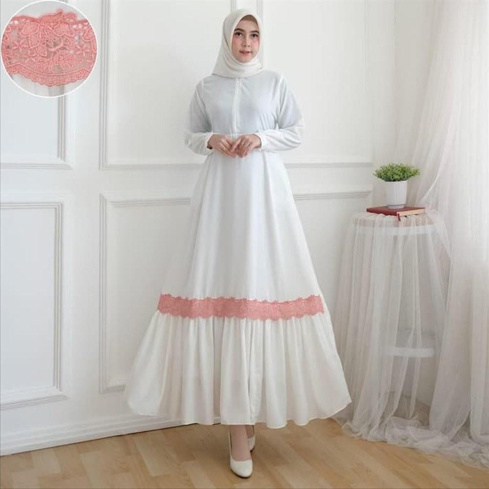 Bentuk Gaun Pengantin Muslim Putih Q0d4 Tangga Perlengkapan