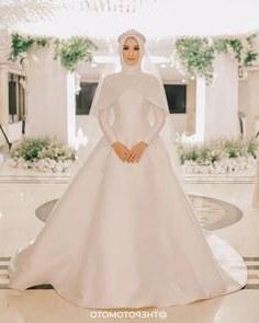 Bentuk Gaun Pengantin Muslim Terbaru Etdg 1921 Gambar Shabby Chic theme Wedding Terbaik Di 2019