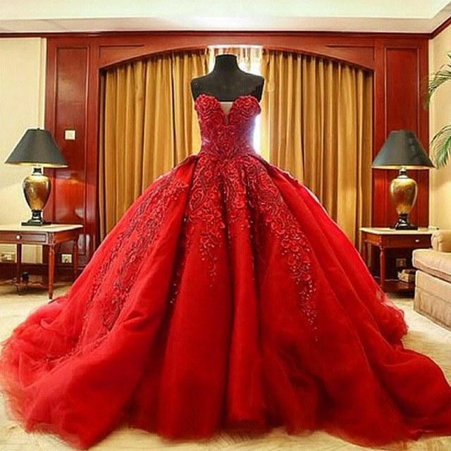 Bentuk Gaun Pengantin Muslimah Warna Merah Marun 3id6 15 Contoh Gaun Pengantin Modern Warna Merah Terupdate