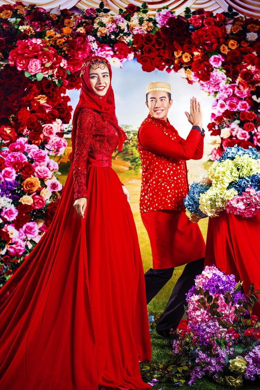 Bentuk Gaun Pengantin Muslimah Warna Merah Marun 3id6 Gaun Pengantin Muslimah Warna Merah