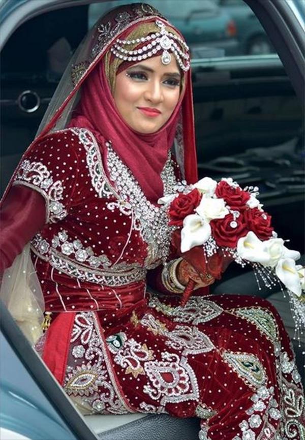 Bentuk Gaun Pengantin Muslimah Warna Merah Marun 9ddf 30 Model Jilbab Pengantin Warna Merah Model Hijab Terbaru