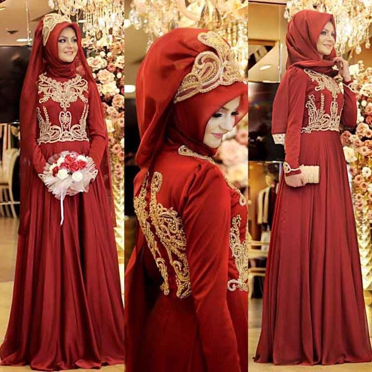Bentuk Gaun Pengantin Muslimah Warna Merah Marun Nkde √ 30 Model Kebaya Muslim Modern Untuk Anak Muda Terbaru 2019
