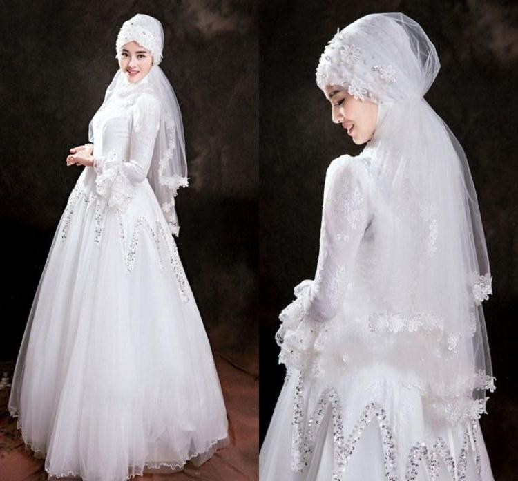Bentuk Harga Gaun Pengantin Muslimah Syar'i Q0d4 Mau Menikah Yuk Gunakan Gaun Pengantin Syar'i Prelo