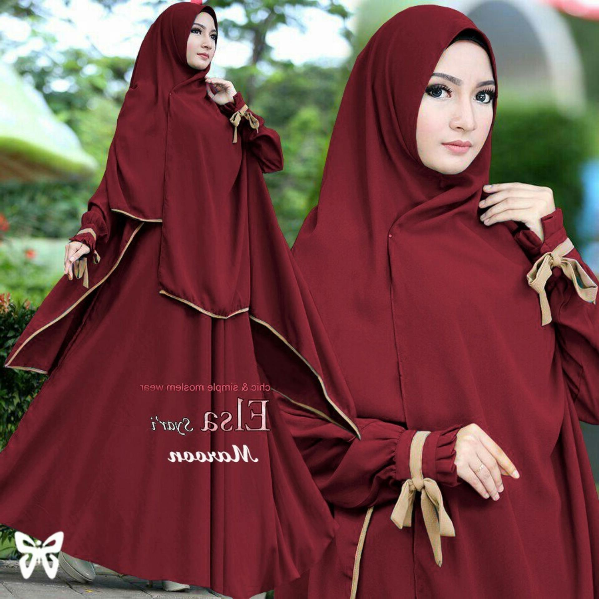 Bentuk Harga Gaun Pengantin Muslimah Syar'i Q0d4 Uc Baju Hijab Muslim Kayra Gamis Syari Syar&39i Fashion