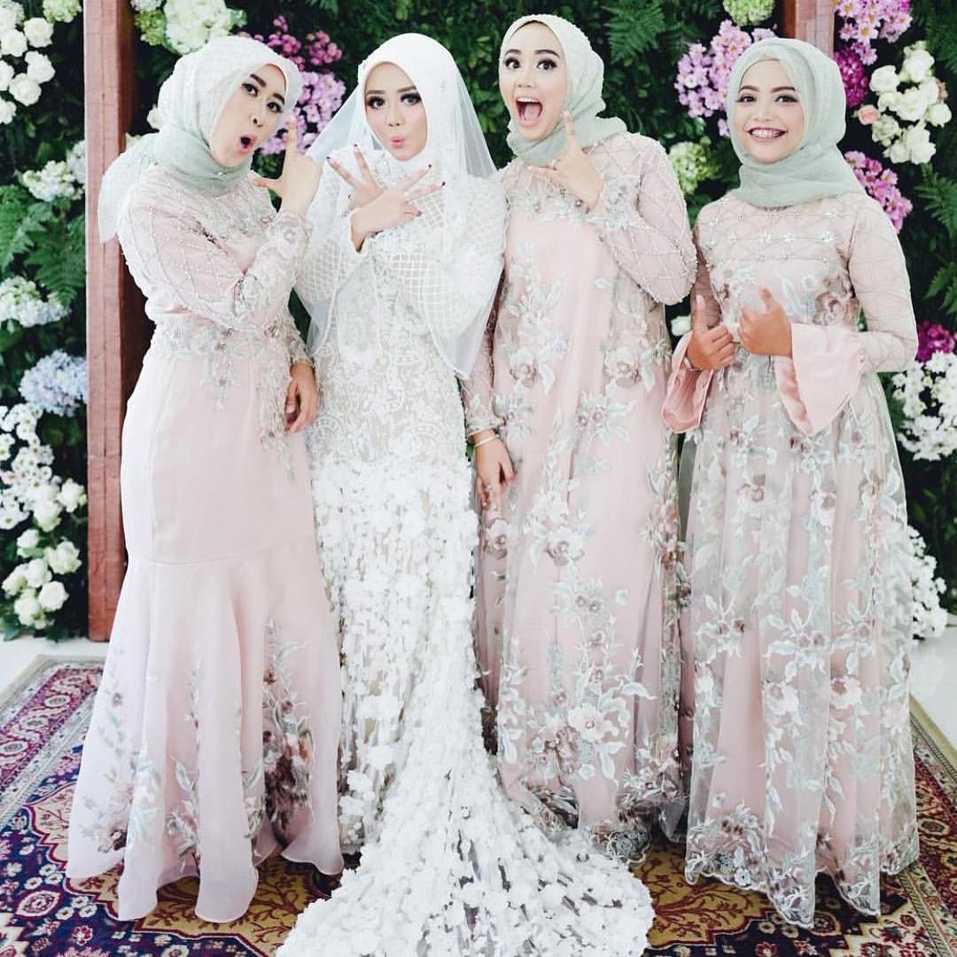 Bentuk Harga Gaun Pengantin Muslimah Syar'i T8dj 17 Model Baju Pengantin Muslim 2018 Desain Elegan Cantik