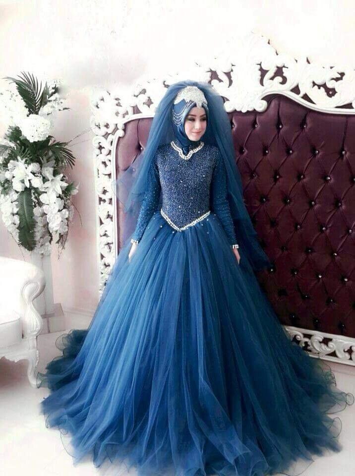 Bentuk Harga Gaun Pengantin Muslimah Syar'i Tqd3 50 Model Baju Pengantin Muslim Modern Terbaru Berikut
