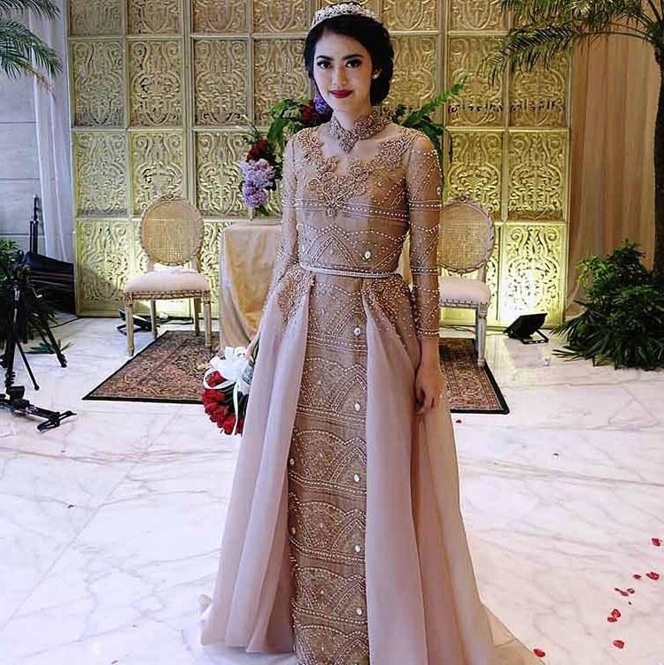 Bentuk Kebaya Pernikahan Muslimah Terindah E6d5 Baju Pengantin islami Modern Gambar islami
