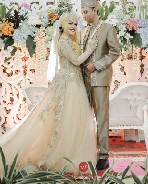 Bentuk Kebaya Pernikahan Muslimah Terindah Q0d4 Baju Pengantin islami Modern Gambar islami
