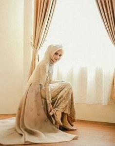 Bentuk Kebaya Pernikahan Muslimah Terindah X8d1 15 Best Hijab Pengantin Syari Images In 2019