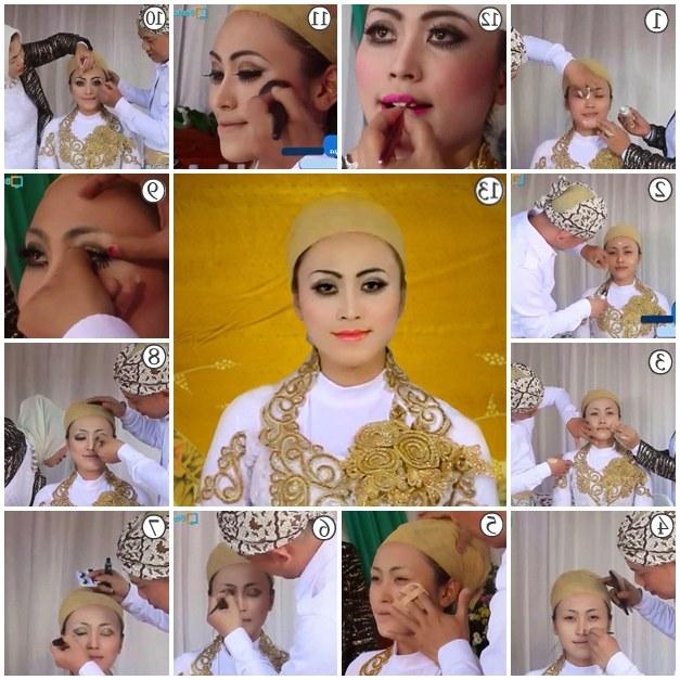 Design Baju Pengantin Muslim Terbaru 4pde Tutorial Makeup Pengantin Muslim Modern