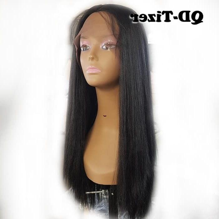 Design Baju Pengantin Muslim Terbaru J7do Jual Long Yaki Straight Hair Lace Front Wigs Black Color Baby Hair Kota Surabaya Diamond Mall