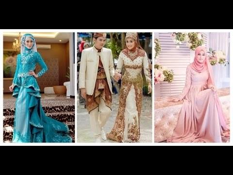 Design Baju Pengantin Muslim Terbaru Kvdd Videos Matching Kebaya Mercial