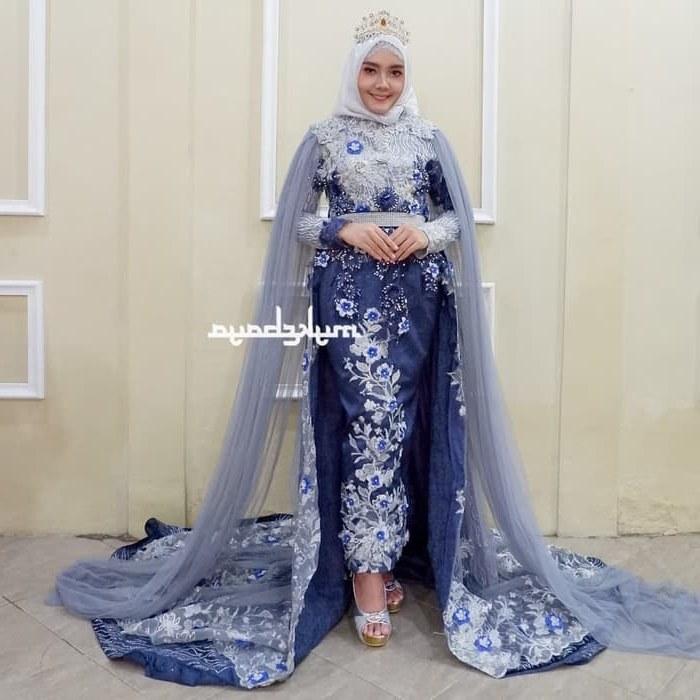 Design Gaun Pengantin Brokat Muslim Wddj 57 Contoh Baju Pengantin Navy Paling Keren Modelbaju