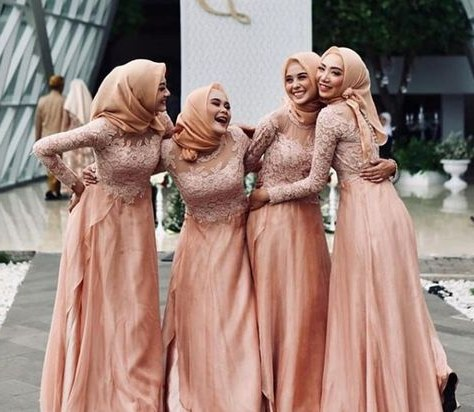 Design Gaun Pengantin Brokat Muslim X8d1 List Of Gaun Pengantin Muslim Peach Images and Gaun
