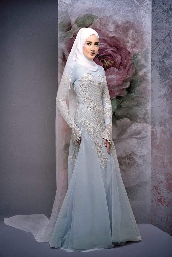 Design Gaun Pengantin Muslimah 2018 9ddf 9 Idea Baju Kahwin Untuk Pengantin Berhijab Wajib Tengok