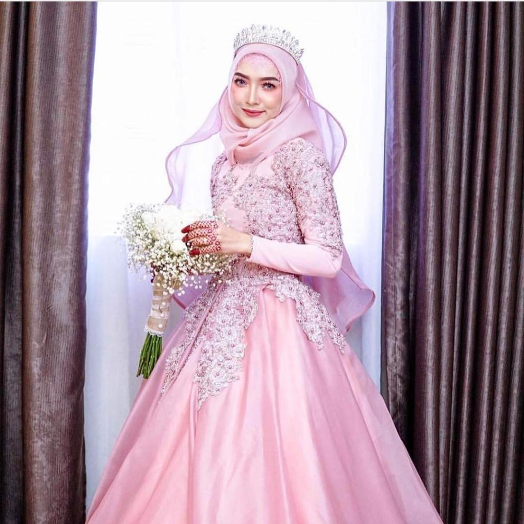 Design Gaun Pengantin Muslimah 2018 Budm Model Hijab Mahkota Pengantin Terbaru Meiyurita