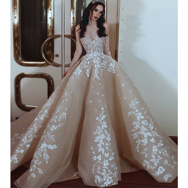 Design Gaun Pengantin Muslimah 2018 Ftd8 Princess Ball Gown Wedding Dress Lace Strapless Bridal Muslim Champagne Wedding Dress 2018 Buy Wedding Dress 2018 Muslim Bridal Wedding