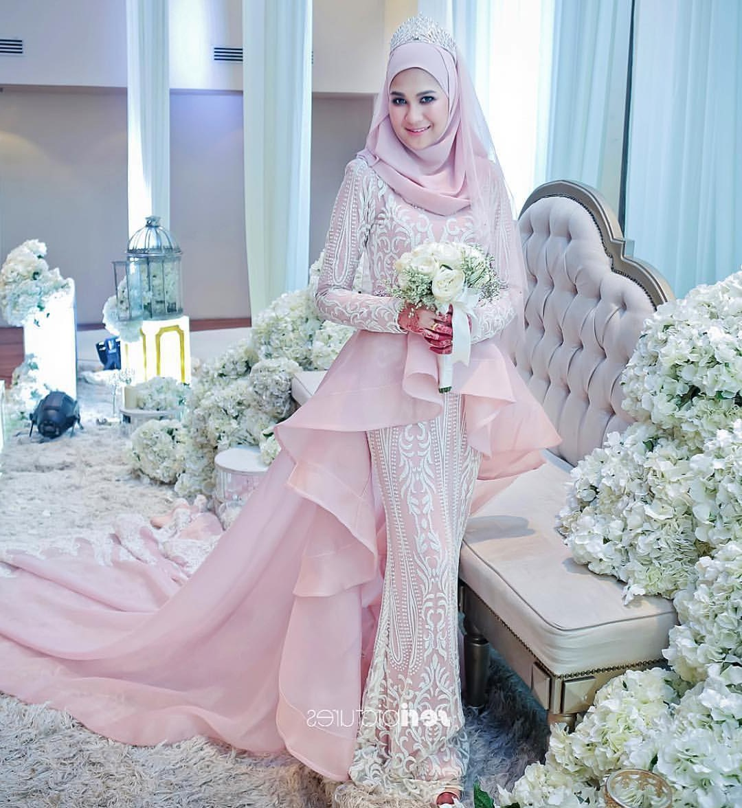 Design Gaun Pengantin Muslimah 2018 Nkde Trend Baju Pengantin 2018