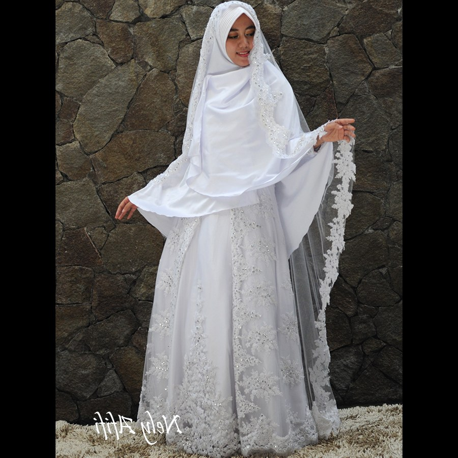 Design Gaun Pengantin Muslimah Syari Rabbani Nkde Gaun
