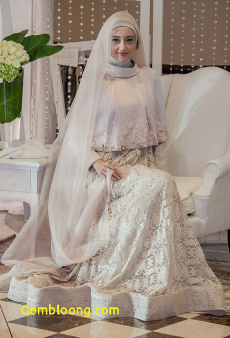 Gaun Pengantin Berhijab Beautiful Model Hijab Kebaya Menutup Dada Tutorial Hijab Syar 39 I