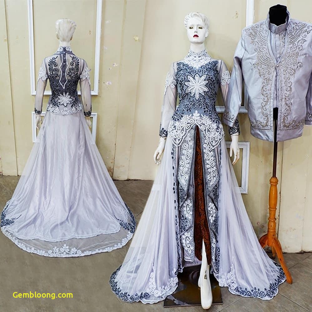 Gaun Pengantin Berhijab Inspirational 30 Model Gamis Pengantin Brokat Fashion Modern Dan