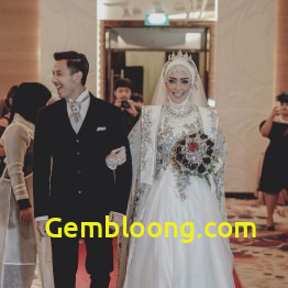 Gaun Pengantin Berhijab Luxury Baju Pengantin islami Modern Nusagates