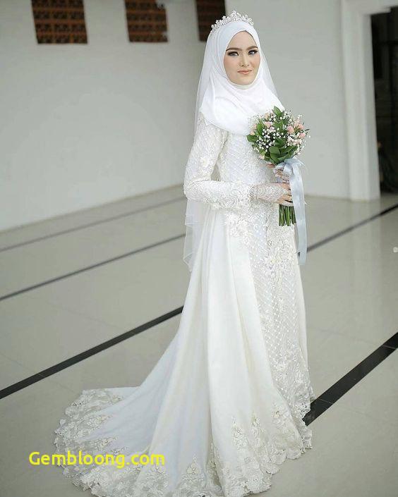 Gaun Pengantin Berhijab Unique 30 Model Gamis Pengantin Brokat Fashion Modern Dan