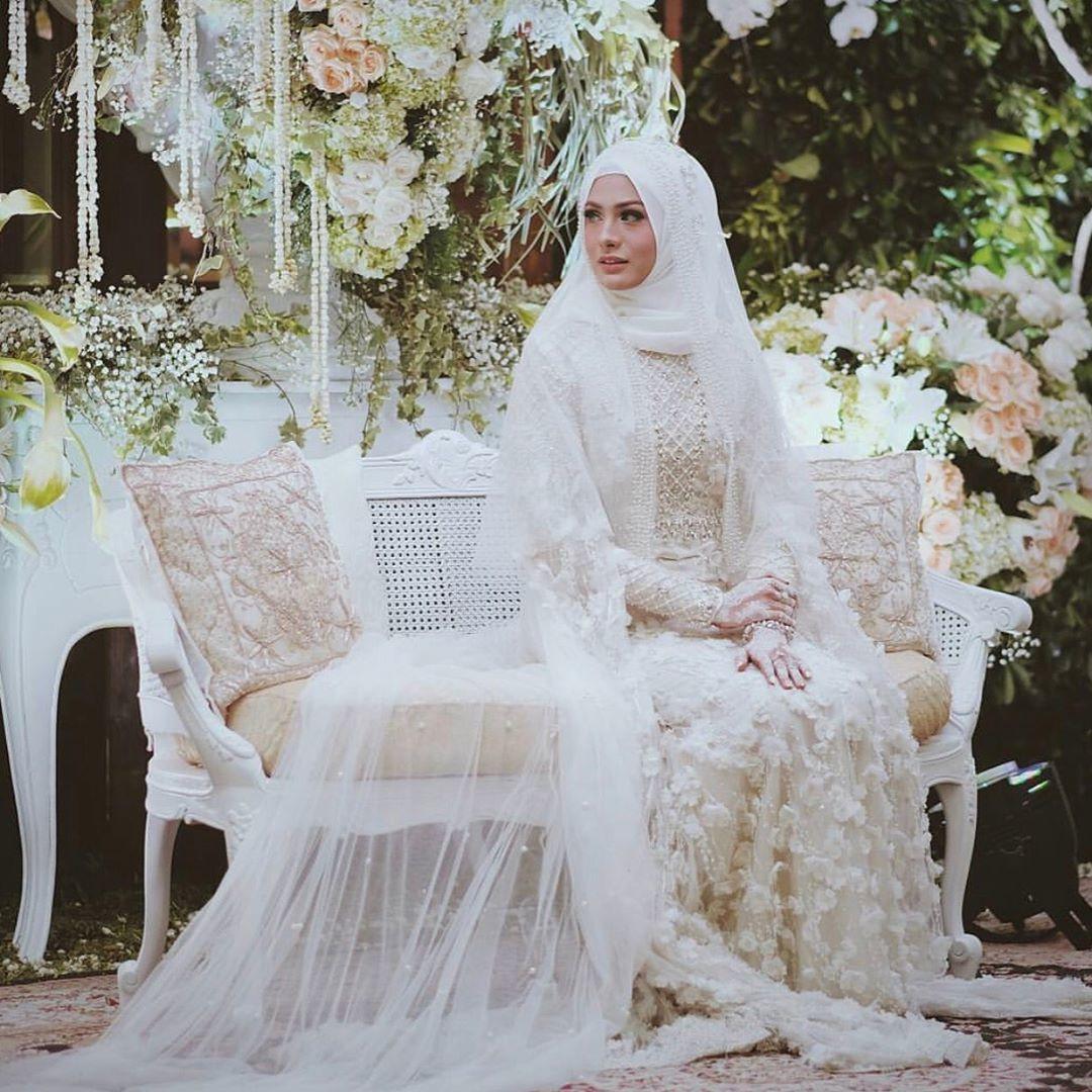 Gaun Pengantin Cantik Berhijab Awesome 12 Desain Gaun Pernikahan Muslimah Elegan Nan Sederhana