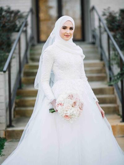 Gaun Pengantin Cantik Berhijab Lovely Jadi Ratu Sehari 5 Inspirasi Gaun Pengantin Berhijab Yang