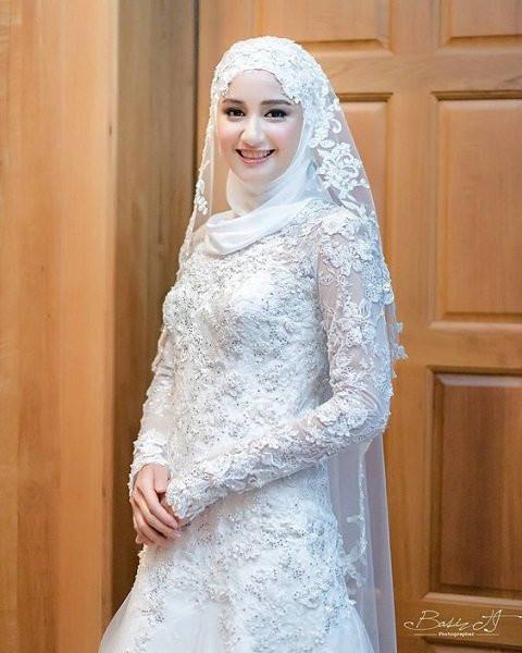 Gaun Pengantin Cantik Berhijab Luxury 50 Model Baju Kebaya Pengantin Muslimah Elegan Dan Modern