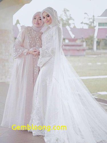 Gaun Pengantin Hijab Minimalis Awesome 8 Inspirasi Gaun Pengantin Muslimah Dari Artis Hingga Selebgram