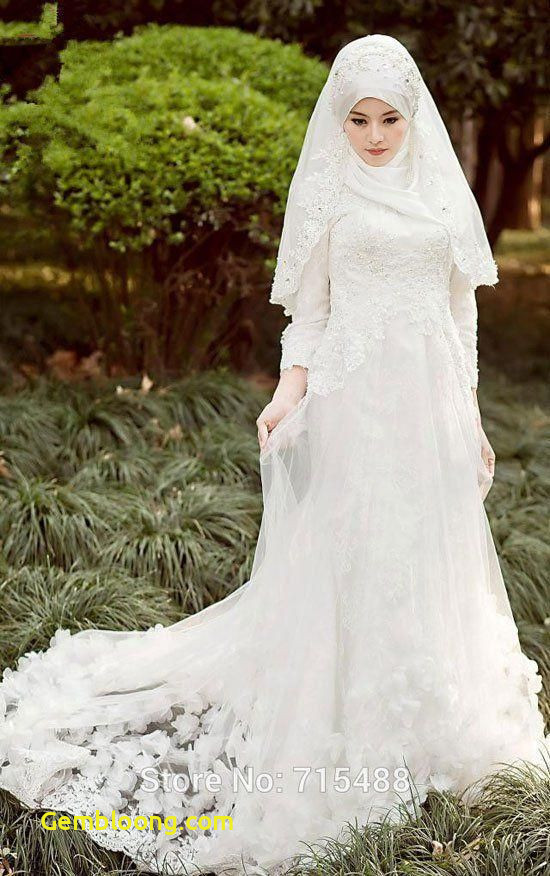 Gaun Pengantin Hijab Minimalis Beautiful 59 Desain Gaun Pengantin Muslim Modern Terbaru Dan