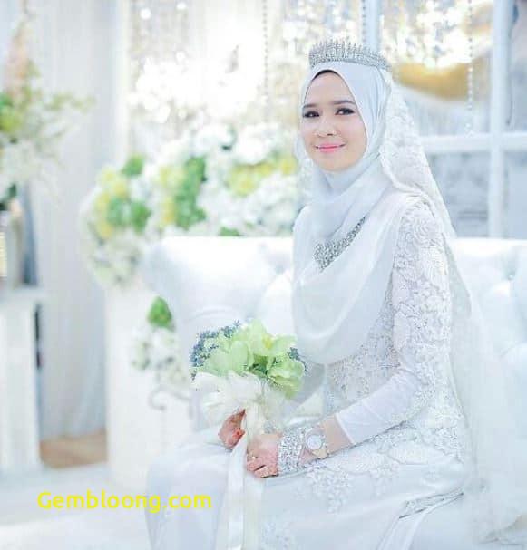 Gaun Pengantin Hijab Minimalis Lovely 59 Desain Gaun Pengantin Muslim Modern Terbaru Dan