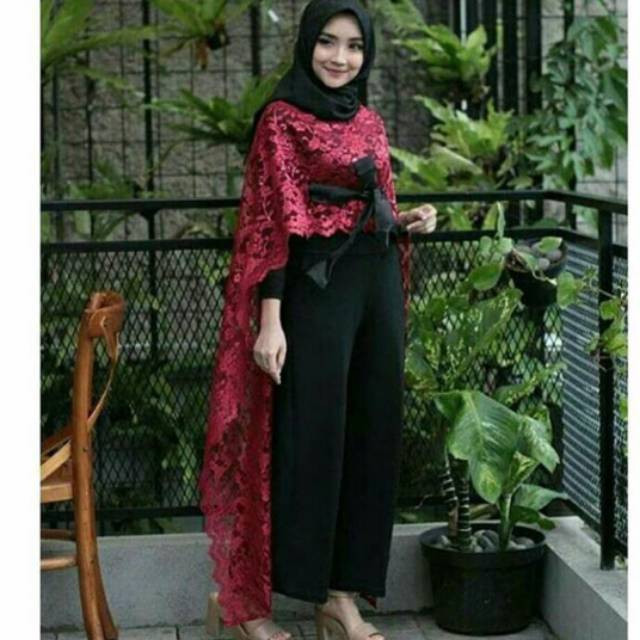 Gaun Pengantin Muslimah Modern Warna Gold Elegant Ready Stok Sale Cape Brukat Panjang Cape Brokat Panjang & Tali
