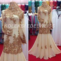 Gaun Pengantin Muslimah Modern Warna Gold Lovely 16 Best Gaun Pengantin Muslimah Malaysia Images
