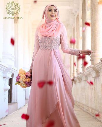 Gaun Pengantin Muslimah Modern Warna Pink Awesome Pinned Via Nuriyah O Martinez