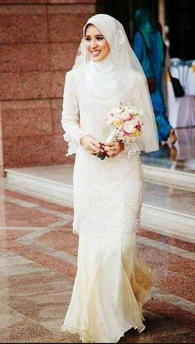 Gaun Pengantin Muslimah Sederhana Tapi Elegan Fresh Model Kebaya Akad Nikah Modern Model Kebaya Terbaru 2019