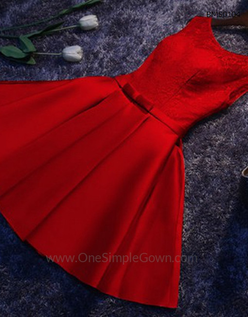 Gaun Pengantin Muslimah Simple Inspirational Elegant Simple Lace Satin Dinner Short Dress