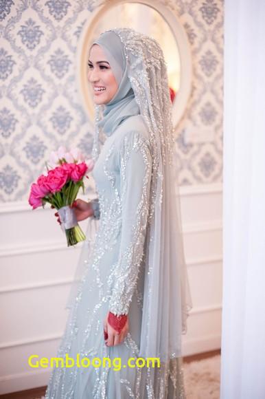 Gaun Sederhana Pengantin Berhijab Beautiful 23 Gaun Pengantin Berhijab Simple Inspirasi Penting