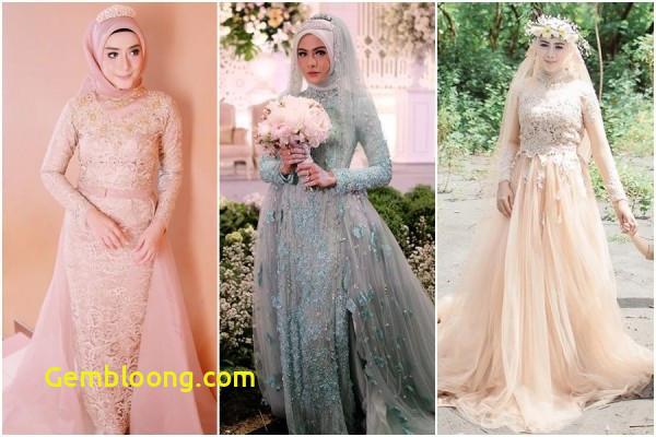 Gaun Sederhana Pengantin Berhijab Fresh 12 Desain Gaun Pernikahan Muslimah Elegan Nan Sederhana