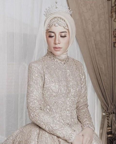 Ide Baju Pengantin Muslimah Jxdu Tutorial Hijab Pengantin Untuk Akad Nikah