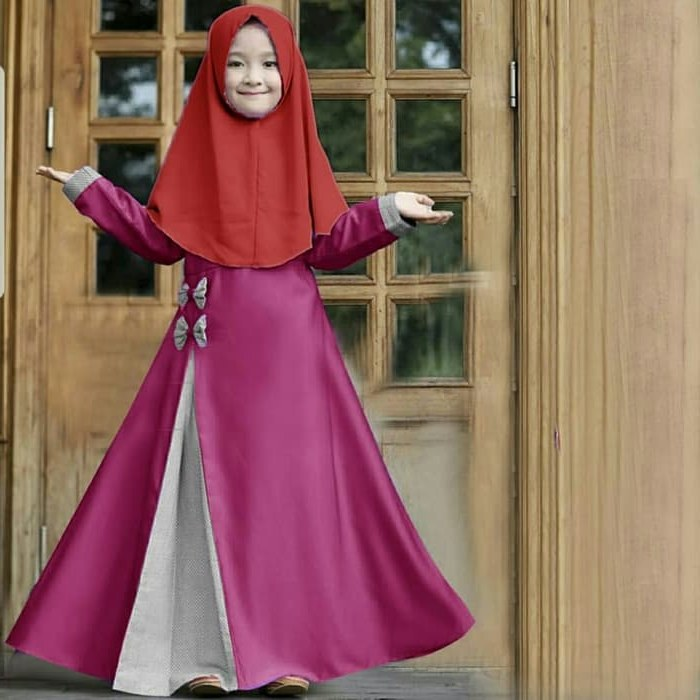 Ide Gambar Gaun Pengantin Muslim Gdd0 Jual Od 3 Wrn Syari Kid Rosa Gamis Baju Busana Muslim Anak Perempuan Dki Jakarta Ferisna Os