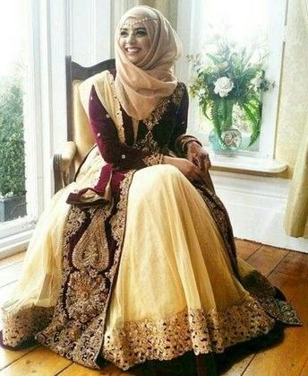 Ide Gaun Pengantin India Muslim Thdr List Of Baju Pengantin India Muslim Image Results